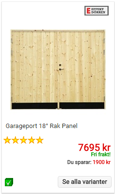 Garageport rak panel