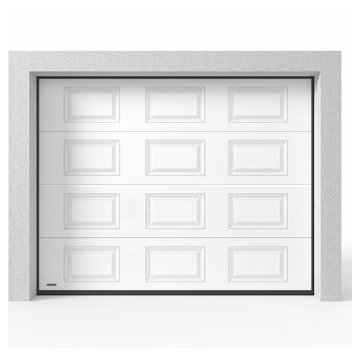 Garageport Takskjutport Modern Spegel Vit, 2400x2000